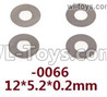 Wltoys 124018 Flat washers. 12428.0066. 12X5.2X0.2mm. total 4pcs.