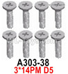 Wltoys 124018 Screws A303-38 Screws. 3x14PM D5.