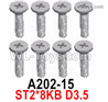 Wltoys 124018 Screws A202-15 Screws. ST2x8KB D3.5.