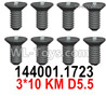 Wltoys 124019 Screws 124019.1723 Screws. 3x10KM D5.5.