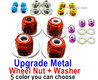 Wltoys 124019 Upgrade Metal Nut for the Wheel + Washer-4 set