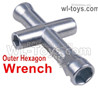 Wltoys 124019 Upgrade Outer Hexagon Wrench For the Wheels M3 M4 Nuts