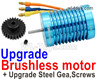 Wltoys 124019 Upgrade Brushless Motor with Steel Gear. Harder and more wear-resistant.