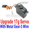 Wltoys 124018 Upgrade Metal Servo with Metal Servo Gear,17g Torque with 3 Wire.