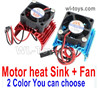 Wltoys 124018 Upgrade Motor Heat Sink + Fan for the Motor.