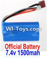 Wltoys 12423 Car Spare Parts-00123-01 Official 7.4V 1500MAH 15C 18650 Battery(1pcs)