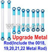 Wltoys 12423 Car Spare Parts-0022-03 Upgrade Metal Rod(Include the 0018,19,20,21,22 Metal Rod)-9pcs
