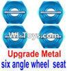 Wltoys 12423 Car Spare Parts-0044-02 Upgrade Metal Combination device, six angle wheel seat(4pcs)