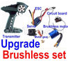 Wltoys 12428 Brushless kit,Wltoys 12428 Upgrade Brushless set(Include the Transmitter,Brushless motor,ESC,Servo,Motor gear,Receiver board)