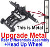 Wltoys 12428 Upgrade Head up Wheel and Upgrade Metal Rear Differentials Assembly(Ordinary metal materials)