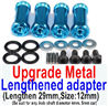 Wltoys 12428 Upgrades Parts-Metal Lengthed adapter(4 set)-Lengthen 29mm