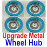 Wltoys 12428 Upgrade Metal Wheel hub(4pcs)-Not include the Tire lether