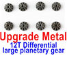 Wltoys 12428 Upgrade Metal 12T Differential large planetary gear(8pcs), 12428-0016, Rc Car Spare Parts Replacement Accessories