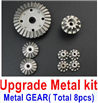 Wltoys 12428 Upgrade Metal Kit-(Metal gear,total 8pcs),Wltoys 12428 Upgrade Parts Replacement Accessories