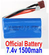Wltoys 12428 Battery Official 7.4V 1500MAH 15C 18650 LIpo Battery Parts,1pcs 12428-0123