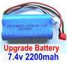 Wltoys 12428 Battery-Upgrade 7.4V 2200MAH Battery 15C With T-Shape Plug(1pcs)-Size-65X38X18mm, 12428-0123, Wltoys 12428 Upgrade Battery Parts