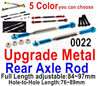 Wltoys 12428 Upgrade Parts-Metal Rear axle Rod, Total 2pcs.  12428-0022,