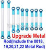 Wltoys 12428-B.0022-03 Upgrade Metal Rod(Include the 0018,19,20,21,22 Metal Rod)-9pcs