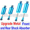 Wltoys 12429 Upgrade Metal Front and Rear Shock Absorber(Total 4pcs) Parts