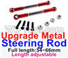 Wltoys 12429 Upgrade Metal steering rod(2pcs)-Red-(Full length-54~66mm)-Length adjustable Parts