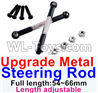 Wltoys 12429 Upgrade Metal steering rod(2pcs)-Black-(Full length-54~66mm)-Length adjustable Parts