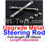 Wltoys 12429 Upgrade Metal steering rod(2pcs)-Silver-(Full length-54~66mm)-Length adjustable Parts