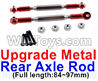 Wltoys 12429.1172 Upgrade Metal Rear axle Rod(2pcs)-Red-(Full length-84-97mm) Parts