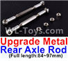 Wltoys 12429.1172 Upgrade Metal Rear axle Rod(2pcs)-Silver-(Full length-84-97mm) Parts