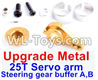 Wltoys 12429 Upgrade Metal Steering gear buffer A,B & Upgrade 25T Metal Servo Swing Arm-Yellow Parts