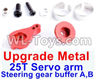 Wltoys 12429 Upgrade Metal Steering gear buffer A,B & Upgrade 25T Metal Servo Swing Arm-Red Parts