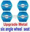 Wltoys 12429 Upgrade Metal Combination device, six angle wheel seat(4pcs) Parts
