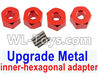 Wltoys 12429 Upgrade Metal inner-hexagonal adapter(4pcs)-Red Parts