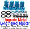 Wltoys 12429 Upgrade Metal Lengthed adapter(4 set)-Lengthen 29mm Parts