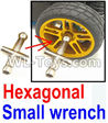 Wltoys 12429 Hexagonal small wrench(Can be used for M2, M2.5, M3, M4 nut specifications) Parts