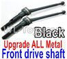 Wltoys 12429.1157 Upgrade Metal Front wheel drive shaft assembly-Black(2 set) Parts