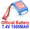 Wltoys 144001 Battery Packs,Lipo Batteries-7.4V 1500MA 25C Battery-61x33x20mm-A959-B-23