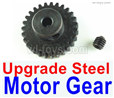 Wltoys 144001 Upgrade Steel motor Gear(1pcs)-0.7 Modulus-Black-27 Teeth