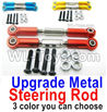 Wltoys 144001 Upgrade Metal Steering Rod for the Servo-2pcs