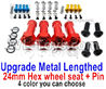 Wltoys 144001 Upgrade Metal Lengthed 24mm Hex wheel seat with pin-4 set