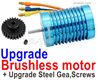 Wltoys 144001 Upgrade Brushless Motor with Steel Gear. Harder and more wear-resistant.
