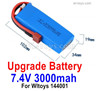 Wltoys 144001 Upgrade 3000mah Lipo Battery Packs. Run More time and More Power.