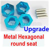 Wltoys 184012 Parts-06-02 A949-11 Upgrade Metal Hexagonal round seat(4pcs)(4pcs)-Blue,Wltoys 184012 Rc Racing Car Truck Spare Parts,High speed Wltoys 184012 1:18 Scale 4wd,2.4G Spare Parts Accessories,F1 184012 On Road Drift Racing Truck Car Parts