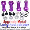 Wltoys 184012 Parts-06-07 A949-11 Upgrade Metal 8mm-to-12mm Lengthed adapter(4 set)-Lengthen 29mm-Purple,Wltoys 184012 Rc Racing Car Truck Spare Parts,High speed Wltoys 184012 1:18 Scale 4wd,2.4G Spare Parts Accessories,F1 184012 On Road Drift Racing Truc