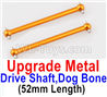 Wltoys 184012 Parts-16-06-04 A949-25 Upgrade Metal Drive Shaft,Dog Bone(2pcs)-Yellow,Wltoys 184012 Rc Racing Car Truck Spare Parts,High speed Wltoys 184012 1:18 Scale 4wd,2.4G Spare Parts Accessories,F1 184012 On Road Drift Racing Truck Car Parts