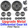 Wltoys 184012 Parts-18-05 Upgrade All metal Differential Gear kit(Total 16pcs),Wltoys 184012 Rc Racing Car Truck Spare Parts,High speed Wltoys 184012 1:18 Scale 4wd,2.4G Spare Parts Accessories,F1 184012 On Road Drift Racing Truck Car Parts