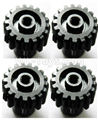 Wltoys 184012 Parts-19-04 Upgrade motor Gear(4pcs)-0.7 Modulus-17 Teeth-Black,Wltoys 184012 Rc Racing Car Truck Spare Parts,High speed Wltoys 184012 1:18 Scale 4wd,2.4G Spare Parts Accessories,F1 184012 On Road Drift Racing Truck Car Parts