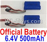 Wltoys 18404 Lipo Battery,6.4V 500mAh battery(2pcs)