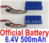 Wltoys 18405 Lipo Batteries,6.4V 500mAh battery(2pcs)