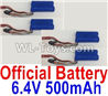 Wltoys 18405 RC Battery,6.4V 500mAh battery(4pcs)