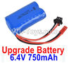 Wltoys 18405 Upgrade Battery,6.4V 750mAh battery(1pcs)-52X32X16mm